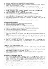 Quality Control Inspector Resume Sample by Qa Qc Inspector Cv Sample Contegri Com
