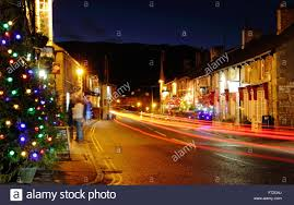 Christmas Decorations With Lights Uk by Christmas Decorations Light Up The Main Street In Castleton A
