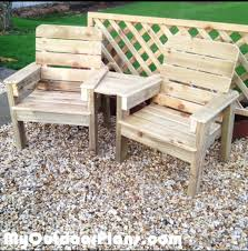 Free Woodworking Plans For Garden Furniture by Diy Jack And Jill Chair Set Myoutdoorplans Free Woodworking