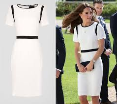 kate middleton wears navy and white 99 jaeger sale dress get her
