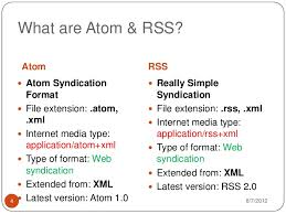 format file atom atom and rss
