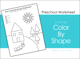 color by shapes printable
