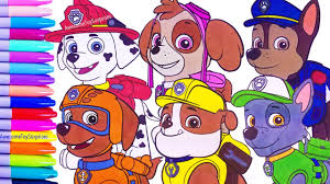 nickelodeon paw patrol speed coloring activity page fun for kids