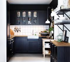 wonderful small kitchen remodel ideas with black painted maple