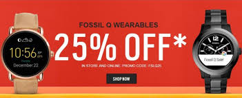 fossil black friday deals 2017 full slate of fossil q wearables available at 25 percent off