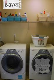 Laundry Room Accessories Decor by The Shabby Nest Laundry Room Reveal Before And After