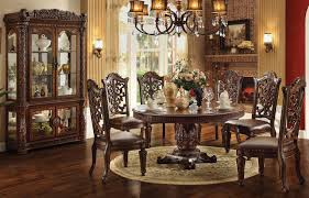 Cherry Wood Dining Room Chairs Vendome 72 Inch Round Dining Room Set Cherry Acme Furniture