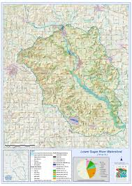 Map Of Rivers Lower Sugar River Watershed Maps Lower Sugar River Watershed