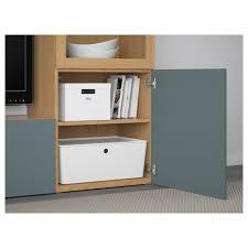 Ikea Besta Glass Doors by Bestå Tv Storage Combination Glass Doors Oak Effect Valviken Grey