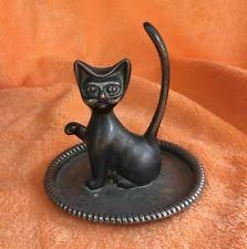 art deco cat ring holder images Vintage ballerina ep zinc alloy silver ring holder tray0 results jpg