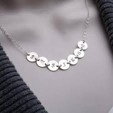 3 initial monogram necklace sterling silver custom leaf initial freshwater coin pearl on sterling silver