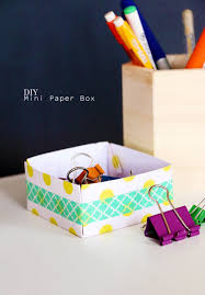 quick paper and washi tape box blitsy