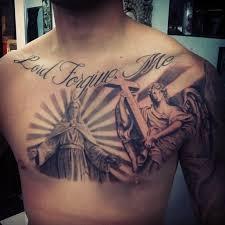 wonderful idea of jesus tattoo on leg tattooimages biz