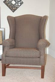 Bargain Armchairs How To Reupholster A Wingback Chair Diy Project Aholic