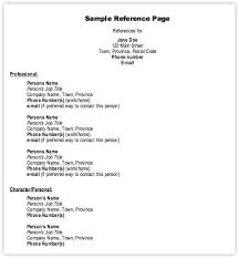 sample professional reference list reference list sample example