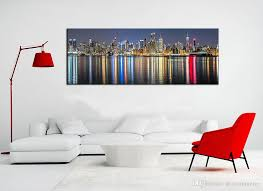 2018 Unframe New York City Canvas Painting Panoramic Home Decor