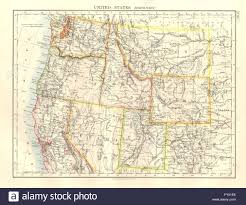 Wy Map Usa North West Washington Oregon Id Mt Wy Utah Nevada Ca