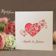 laser cut heart flower wedding invitation u2013 paper love cards