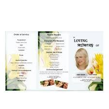 tri fold program floral 2 tri fold brochure program funeral phlets