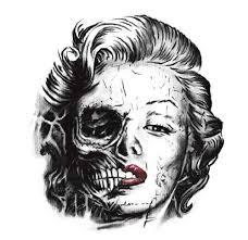 30 popular marilyn monroe scary skull tattoos golfian com