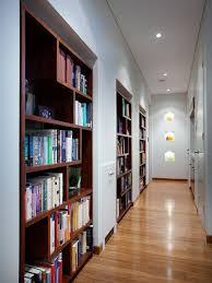 Inbuilt Bookshelf Hallway Built In Bookshelf Houzz