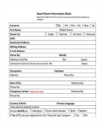 Patient Information Sheet Template 45 Information Sheet Sles