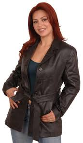 welcome to the ladies leather jackets with belt department
