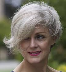 short asymetrical haircuts for women over 50 short gray hairstyle for women over 50 asymmetrical bob like meryl