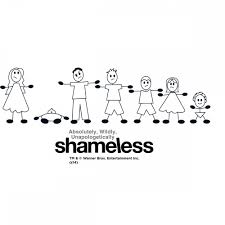 shameless family stick figure wall decal showtime store