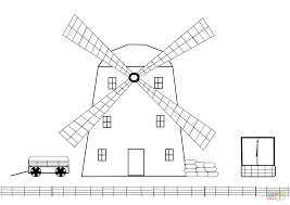 windmill on a farm coloring page free printable coloring pages