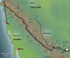Map Burma Map Of The Thai U2013burma Railway The Anzac Portal