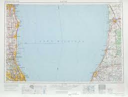 Kenosha Wisconsin Map by Racine Topographic Maps Mi Il Wi Usgs Topo Quad 42086a1 At 1