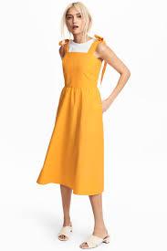lyocell blend dress orange ladies h u0026m gb