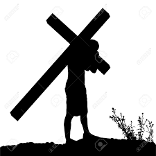 on the cross clipart siloette