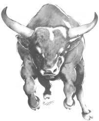 bull tattoo on halfsleeve running bull tattoo for men running bull