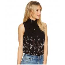 s blouses on sale brand s blouses sleeveless mock neck floral top sku