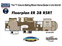 2018 heartland rv elkridge 38rsrt bunk model 2 full bath w jacks