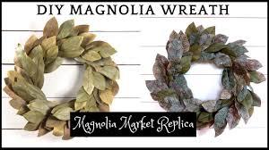 magnolia market replica diy magnolia wreath