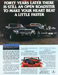 mercedes ads 1979 mercedes benz 450sl ad classic cars today online