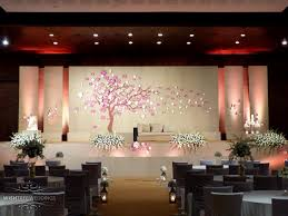 wedding backdrop burlap jute theme wedding function at le meridien kochi