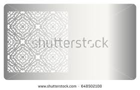 template business card geometrical ornament cut stock vector