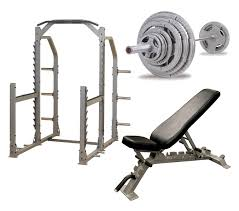 Olympic Bench Set With Weights Body Solid Pro Multi Squat Rack With Fid Bench And 300 Lb Olympic Set