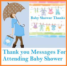 baby shower notes thank you messages baby shower