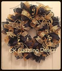 black and gold deco mesh wreath black and gold wreath elegant