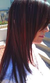 black hair to raspberry hair ever want to try red violet raspberry highlights salon york pa