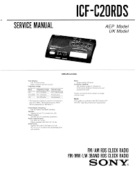 sony clock radio manual sony icf c20rds service manual immediate download