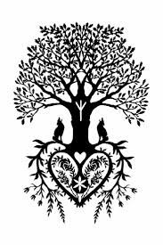 Halloween Tree Silhouette Pattern by 110 Best Pagan Stencils Images On Pinterest Celtic Designs
