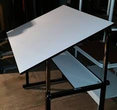 White Drafting Table 3 X4 White Laminate Drafting Table Used Welter Storage