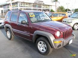 jeep liberty 2003 4x4 2003 garnet pearl jeep liberty sport 4x4 46244797