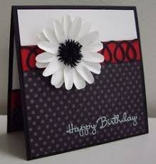 handmade birthday card from paper crafty u0027s creations black and